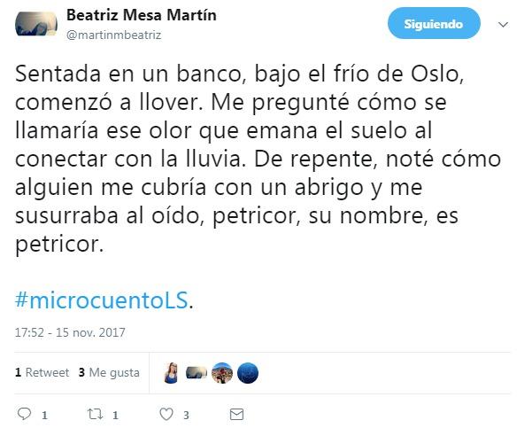 Beatriz Mesa gana el II concurso de Microcuentos en Twitter