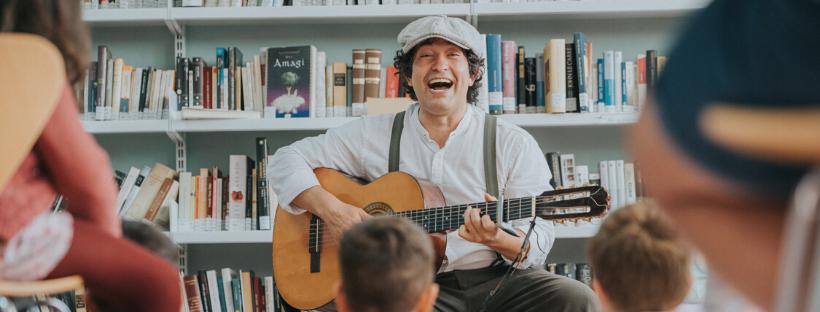 Fidel Galván, en el Festival del Cuento de Los Silos 2019